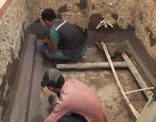 Chống thấm nhà vệ sinh tại Cổ Nhuế -Trần Cung 0836.418.555 Triệt Để